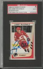 Lanny McDonald 1989 Panini Stickers Autograph #39 SGC Flames