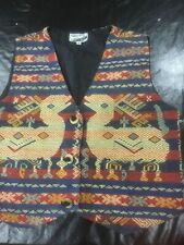 Indonesian Vest. New, Medium, Lined, Hand Woven  Wearable Art