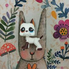 LPS 577 Littlest Pet Shop Great Dane Dog Birthday Gift Flower Eyes For Kid Puppy
