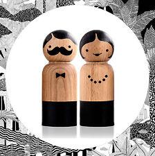 Suck UK Mr Salt & Mrs Pepper- Wood Set of Two Grinders Mills Area Ware Pair NEW