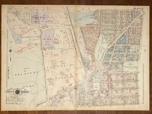 1943 BAISTS WASHINGTON DC ATLAS MAP PLATE 7 CATHOLIC UNIVERSITY BROOKLAND VOL 4