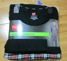 new Men's 2-pcs pajama set size 2XL XXL FLANNEL pants & long sleeve thermal top