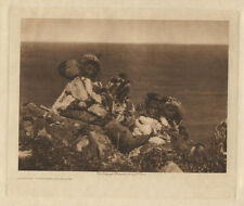 ORIGINAL PHOTOGRAVURE E.S. CURTIS INUIT/NATIVE AMERICAN PEOPLE IMAGE.