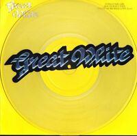 "GREAT WHITE congo square 12CLPD 605 clear vinyl uk capitol 1991 12"" PS EX/EX-"
