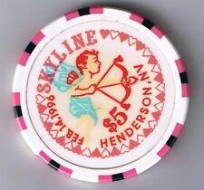 Skyline $5.00 Casino Chip Valentines Day 1996 Henderson Nevada