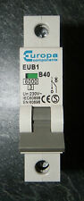 Europa EUB1 B40 40A MCB SINGLE POLE TYPE B CIRCUIT BREAKER 230V