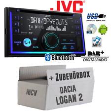 JVC Radio für Dacia Logan 2 MCV 2-DIN DAB+ Bluetooth MP3 USB - Einbauset PKW KFZ