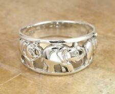 GRAND STERLING SILVER LUCKY ELEPHANT BAND RING size 8 style# r0935