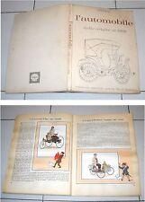 Album L'AUTOMOBILE DALLE ORIGINI AL 1900 Herge' Shell COMPLETO Gandus 1964
