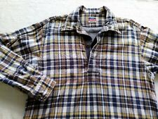 45RPM forty five RPM by R NMD plaid navy brown pull over shirt size 1