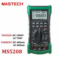 MASTECH MS5208 Digital Multimeter Insulation Resistance Meter Temperature Tester