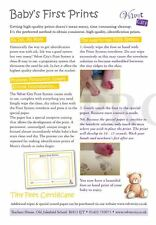 NEW MUM TO BE NEWBORN BABY FOOTPRINT MAGIC INKLESS WIPE GIFT SET KIT