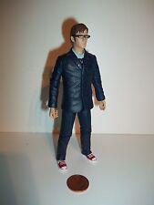 Doctor Who Décimo Doctor figura 10'th, traje azul, rojo Zapatos, vasos, BBC, 2004