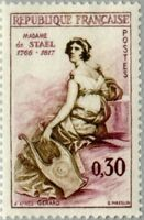 EBS France 1960 Famous People - Madame de Staël (1766-1817) YT 1269 MNH**