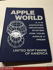 Apple World A 3-D United Software Of America By Paul Lutus Apple II Plus 1980