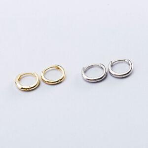 Kleine Creolen Rund echt Sterling Silber 925 Damen Ohrringe Kreolen