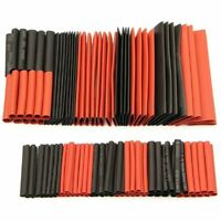 Shrink Tube Sleeving Wrap Wire Cable Kit Assorted Heat Polyolefin Black Red 127
