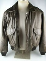 Mirage Classic 1940s Style Brown Leather Bomber Flight Aviator Jacket Mens LARGE