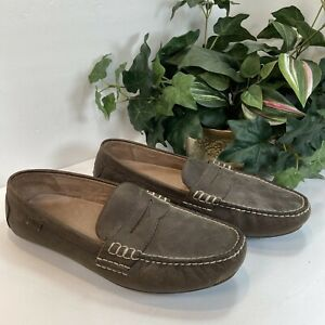 Polo Ralph Lauren Men's Loafers Slip On Driving Casual Shoes Brown Leather 14 D