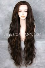 Super Long Brown mix  HEAT SAFE Lace Front Wig Delicate wavy WEAJ 4-27