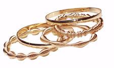 3 Bangels Of Pulsating Gold Waves (Ns30) 5 Piece Set 2 Gold Toned Bangels &