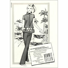 1969 Bonwit Teller: The Courreges Pantsuit Vintage Print Ad