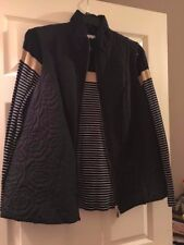 NWT Charter club vest and top 2X Vest is solid black and top has stripes