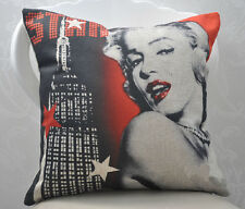 "Red Sexy Marilyn Monroe Nightscape Linen Pillow Case Cushion Cover Sham 18""x18"""
