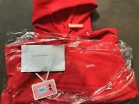 Supreme SS18 Red White Logo Hoodie Sweatshirt New Size L Confirmed