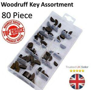 Woodruff Key Keys Full Range 80 pieces Metric 3mm - 6mm  4103