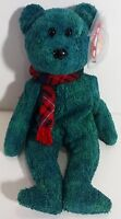 """TY Beanie Babies """"WALLACE"""" the Christmas Holiday Teddy Bear - MWMTs! GREAT GIFT!"""