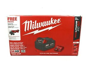 Milwaukee M18 18V Li-Ion 4-1/2 in. Grinder w/ 5.0Ah Battery & Charger 2680-21P