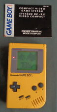 NINTENDO GAMEBOY GAME BOY CLASSIC DMG-01 YELLOW console WORKS no battery cover