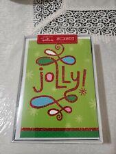 """16 HALLMARK CHRISTMAS CARDS """"Jolly"""" Seasons NEW"""
