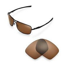 New Walleva Polarized Brown Replacement Lenses For Oakley Plaintiff Squared