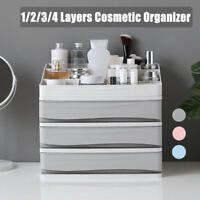 Plastic Table Cosmetic Organiser Makeup Case Holder Sundry Storage Box w/Drawer