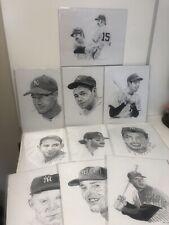 Lot of 10 8x10 Lou Gehrig, Yankees  Sketch, Frank Nareau, 1993-1996