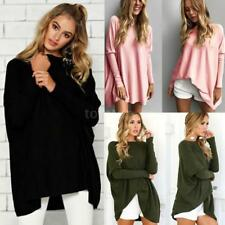 Women's Long Sleeve Oversized Pullover Batwing Baggy Jumpers Tops Blouse O0A0