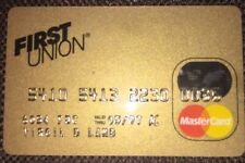 Collectible FIRST UNION BANK Gold Master Card - Signed - Expired 1997