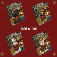Christmas Stocking Hung Dog Cat Pet Photo Mini Magnet 3.5x2 In Gifts