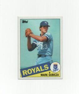 1985 Topps Mark Gubicza #127 ROOKIE Baseball Card - Kansas City Royals