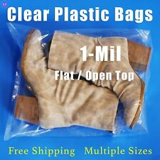 Clear Poly Plastic Bags 1 Mil Open Top Shoes Lay Flat Apparel Shirt Bags