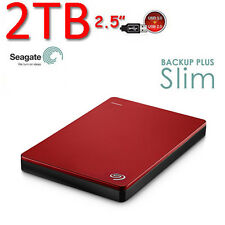 "2To 2.5"" Neuf SEAGATE Backup Plus SLIM USB3.0 Disque dur Externe Portable Rd"
