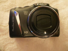 Canon PowerShot SX130 IS 12.1MP Digital Black Camera + Case & SD Card very nice!