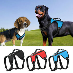 No Pull Front Clip Dog Harness Adjustable Reflective Padded Vest Bulldog S-XL