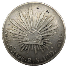 More details for 1896 mexico silver 8 reals coin