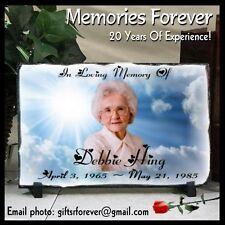 Personalized Cloud Memorial Plaque In Memory Photo Memorial Slate Keepsake