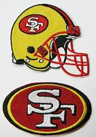 1 LOT OF (2) NFL SAN FRANCISCO 49ers EMBROIDERED HELMET & LOGO PATCHES ITEM # 16