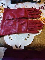 Vintage Nordstrom Leather Red Gloves Size 6