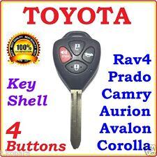 Toyota 4 Buttons Remote Key shell Camry Corolla Yaris Prado RAV4 Echo Blank